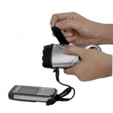PowerPlus Dolphin 3LED Wind Up Torch and Phone Charger